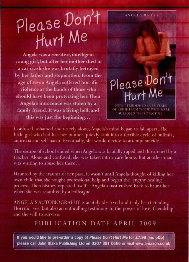 "Publicity flyer for Angela Bailey's ""Please Don't Hurt Me"""