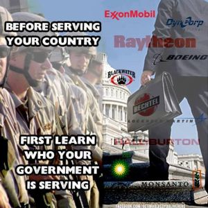 Companies benefiting from war.