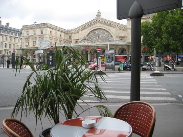 View from the Brasserie Gare de l´Est of the station itself.