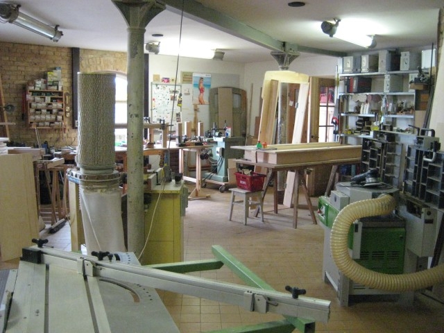The carpentry workshop we were shown.