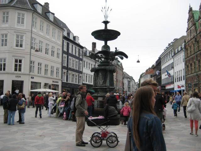 Stroget scene #1. Copenhagen's main pedestrianised street.