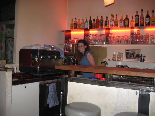 The friendly barmaid who served us although the bar had supposedly closed for the night.