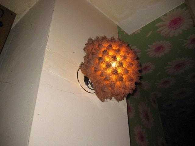 The strangest light fitting I have ever seen.