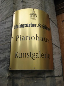The entrance to the Steingraeber gallery.