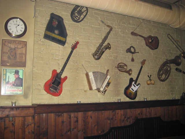 Don't take an instrument to this place as it's likely to end up on the wall.