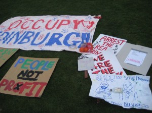 Occupy Edinburgh is part of a global movement protesting against economic injustice.