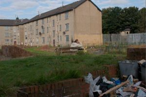 One of Morag Livingstone's photographs of a poor council estate.