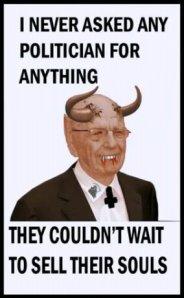 Media tycoon Rupert Murdoch