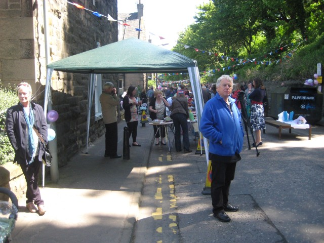 People at the royalist Stockbridge Street Party.