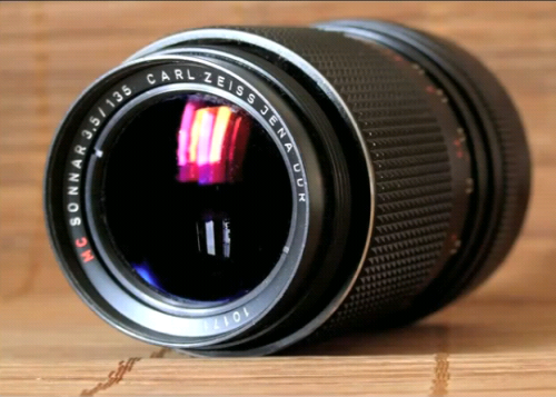 Camera lens made by Zeiss.
