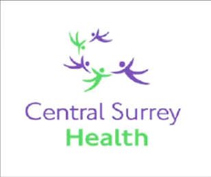 The logo of employee-owned Central Surrey Health.