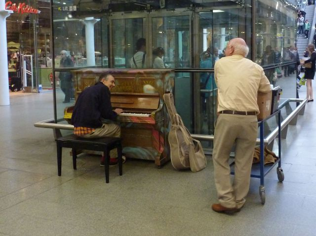 A piano at St Pancras - anyone can play it!