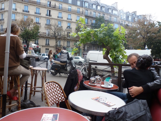 The view from my seat at Le Plein Soleil, Parmentier, Paris.