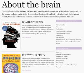 Nicola Morgan's books on the brain