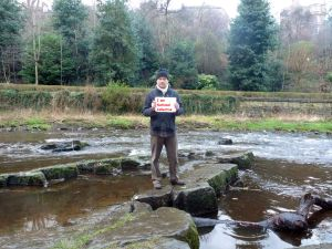 R. Eric Swanepoel in the Water of Leith.