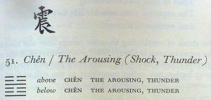 I Ching. Hexagram 51.