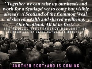 As was evident at the second Radical Independence Conference, attended by over a thousand delegates, a compelling new vision for Scotland is forming. Contribute to this. What would you like to see in a a new Scotland?