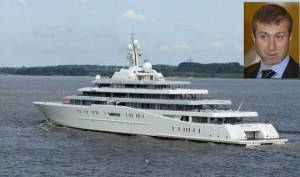 It's hardly surprising that the super-rich are worse for the environment. Here's Roman Abrahamovitch's $350-million yacht.
