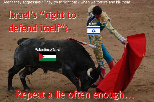 Israel's lies that it is defending itself