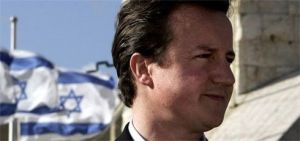 David Cameron and Israeli flag