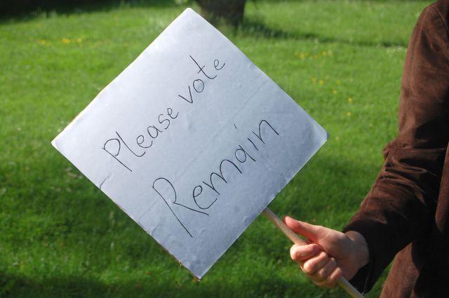 Please vote Remain....