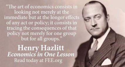 Henry Hazlitt quotation