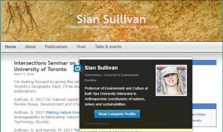 Prof Sian Sullivan