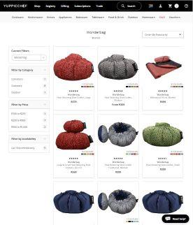 Yuppiechef website selling Wonderbags.