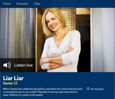Mariella Frostrup presents Radio 4 programme on children lying