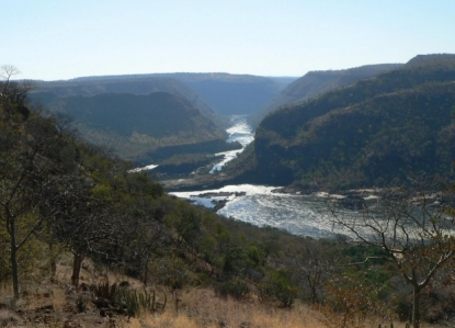 Beautiful and unique Batoka Gorge on the Zambezi River